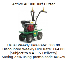 Hire Special Offer - Active AC300 Turf Cutter