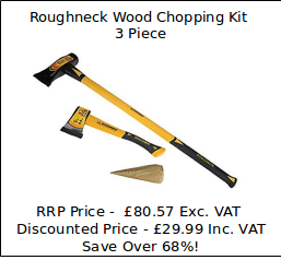 Sales Special Offer - Roughneck Wood Chopping Kit 3 Piece